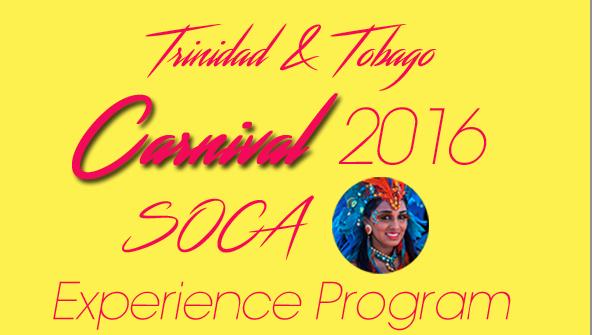 TRINIDAD CARNIVAL & SOCA EXPERIENCE PROGRAM 2016 (10月31日申込締切)