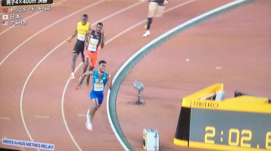 世界リレー男子4x400mトリニダード・トバゴチーム優勝!