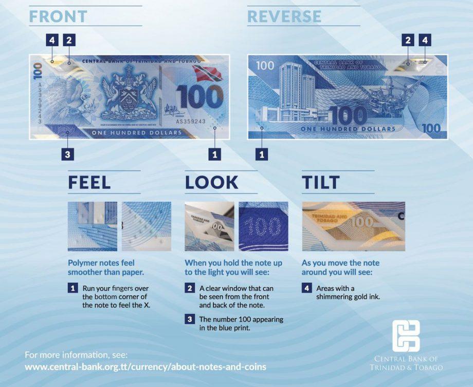トリニダード・トバゴの新100ドル紙幣をご紹介